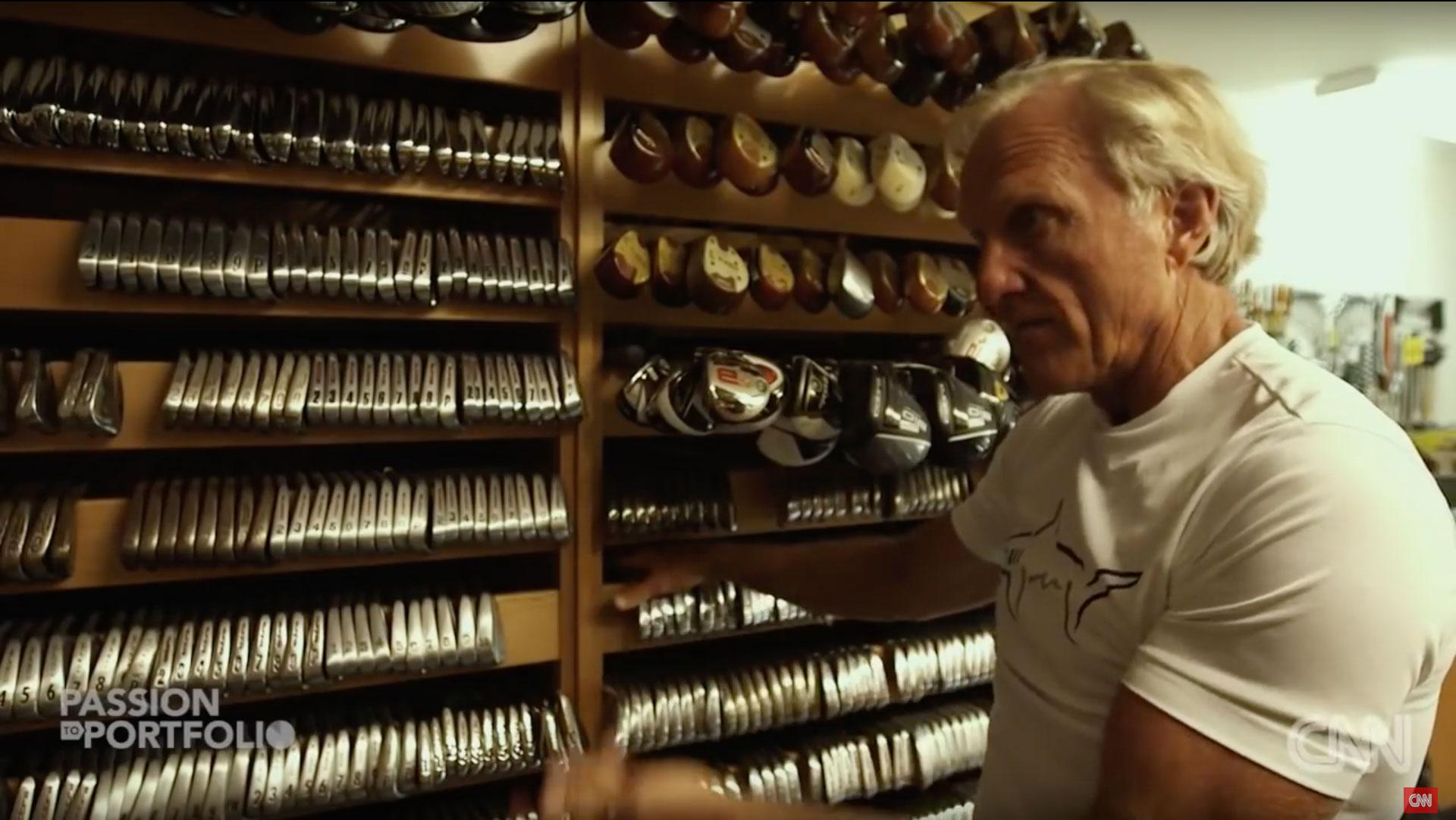 Greg Norman's Golf Room